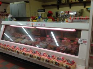 Loggy's meat counter